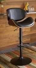 Strick   Bolton Harley Adjustable Height Matte Black Bar Stool  Retail 115 99 1 only