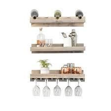 Handmade Del Hutson Designs Rustic luxe Tiered Wine Set   5 Bottle Count  Retail 95 99 walnut
