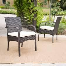 cordoba wicker outdoor cushioned dining chairs set of 2 grey