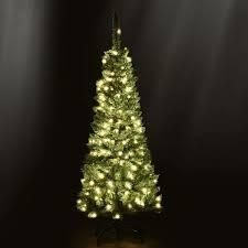 Pre lit PVC Artificial Pencil Christmas Tree Warm White lights   Stand  Retail 86 99
