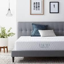 lucid comfort collection surecool matress twin xl 10 inch luxury