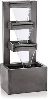 alpine metal tiered waterfall fountain 43 inch tall
