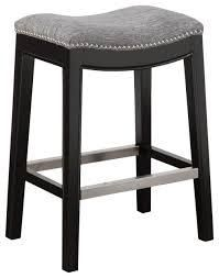belfast saddle counter stool 1 only grey with brown legs Retail 123 99