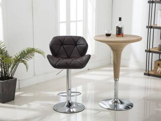 global trading unlimited inc barstool set of 2 chocolate 360 degree swivel adjustable