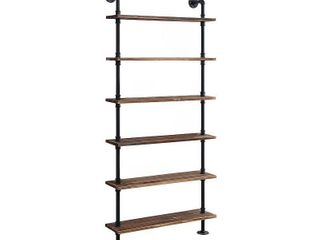 Anacortes Six Shelf Piping  Retail 149 49 black pipe and brown shelves