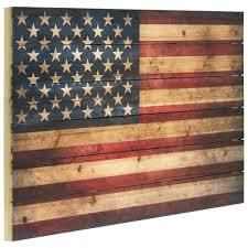 American Flag Wall Art Printed on Solid Fir Wood Planks  Retail 180 00