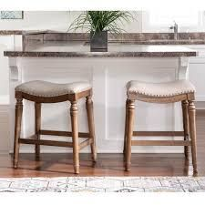 Copper Grove Barmstedt Brown Counter Stool with Beige Saddle Seating  Retail 105 99 1 only powell lockhart