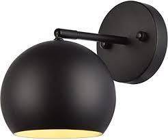 living district othello wall sconce black