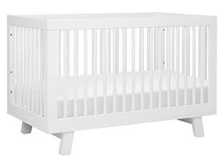 Babyletto Hudson 3 in 1 Convertible Crib with Toddler Bed Conversion Kit in White  Greenguard Gold Certified
