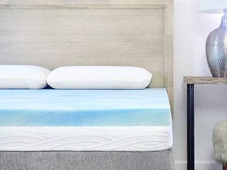 Sure2Sleep Gel Swirl Memory Foam Mattress Topper Made in USA 2 Inch