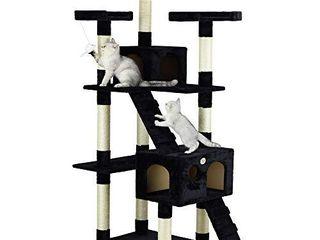 Go Pet Club Cat Tree  33 Inch by 22 Inch by 72 Inch  Black