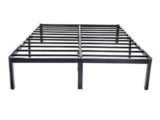 V lX 14 inch Tall Heavy Duty Steel Slats 1 0T Steel Frame V1401 Bed Frame  King