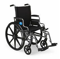 Medline K4 lightweight Wheelchair With Removable Flip Back Arms for Table or Desk  Swing Away Removable leg Rests  Gray  20IJ x 18  Seat