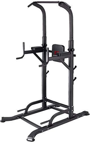 K KiNGKANG Power Tower Adjustable Height Multi Function Home Strength Training Fitness Workout Station  T056