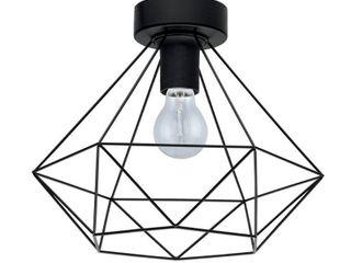 43004A Eglo lighting Tarbes   One light Flush Mount Matte Black Finish with Matte Black Metal Shade