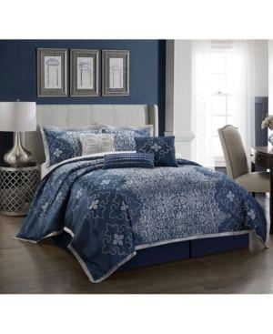 Kelton 7 Piece King Comforter Set Bedding