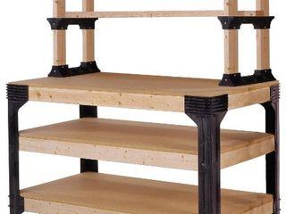 2x4basics 90164 Custom Work Bench and Shelving Storage System  Black