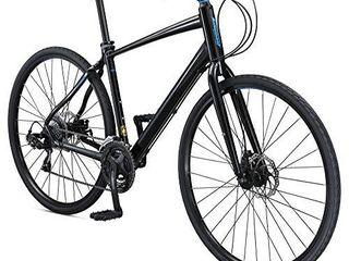 Schwinn Vantage F3 Mens Womens Sport Hybrid Bike  21 Speed Drivetrain  55cm Small Aluminum Frame  Flat Bar  Disc Brakes  Smooth Ride Technology  Black