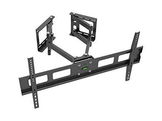 Monoprice Cornerstone Series Full Motion Articulating TV Wall Mount Bracket   for TVs 37in to 63in Max Weight 132lbs VESA Patterns Up to 800x400 Black