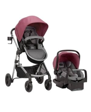 Evenflo Pivot Modular Travel System with SafeMax Infant Car Seat   Dusty Rose