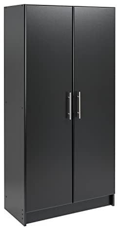 Prepac Elite Storage Cabinet  32  W x 65  H x 16  D  Black