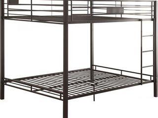 ACME Furniture 38015 2 Cartons Kaleb Bunk Bed  Set of 1  Queen  Black Sand
