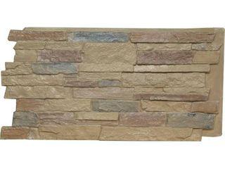 48 W x 24 H x 1 1 4 D Acadia ledge Stacked Stone  StoneWall Faux Stone Siding Panel  Colfax