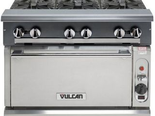 Vulcan V6B36C 1  242 000 Btu Natural Gas Heavy Duty Range  6 Burner  Convection Oven