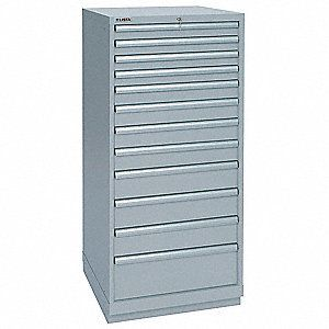 lista Stationary Full Height Modular Drawer Cabinet  12 Drawers  40 1 4 inW x 22 1 2 inD x 59 1 2 inH