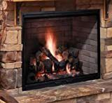 Majestic SB80 Biltmore 42 in Radiant Wood Burning Fireplace with 1 197 sq  in  Viewing Area Dual Gas Knockouts and Full Refractory Firebox with Traditional Molded