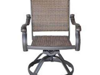 Santa Clara Swivel Rocker Dining Chairs Cast Aluminum Antique Bronze