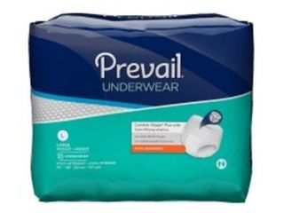 Adult Absorbent Underwear PrevailAr Extra Pull On large Disposable Moderate Absorbency