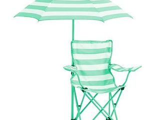 Heritage Kids Kids Rugby Stripe Beach Chair with Umbrella