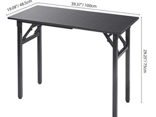 Writing Computer Desk Modern Simple Study Desk Folding laptop Table for Home Office Notebook Deski1 4No Assembly Required  All Black