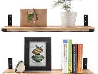 AZSKY Floating Shelves Mounted Wall Set of 2