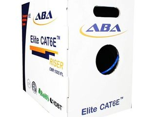 CAT6E CMR 600MHz 4 Pair Solid  Blue  24 AWG  Spline  1000  Per Box