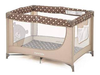 Comfortable Playard Sturdy Play Yard with Mattress  Brown