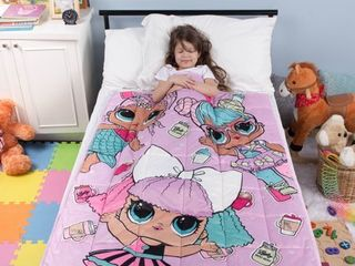 l O l  Surprise  Kids Weighted Blanket  Super Soft Plush Bedding  36  x 48a 4 5lbs  Purple Pink