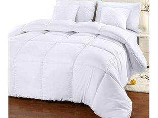 Utopia Bedding Comforter Duvet Insert   Quilted Comforter with Corner Tabs   Box Stitched Down Alternative Comforter  King  White