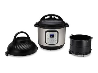 Instant Pot 8qt Duo Crisp Combo Electric Pressure Cooker Air Fryer   Stainless Steel