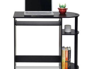 Furinno 14098R1EX BK Easy Assembly Computer Desk  Espresso
