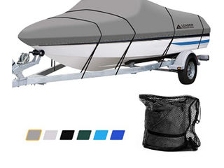 leader Accessories 600D Waterproof Trailerable Runabout Boat Cover Fit V Hull Tri Hull Fishing Ski Pro Style Bass Boats  Full Size