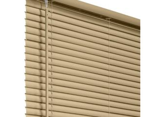Chicology Cappuccino Cordless Room Darkening Vinyl Mini Blind with 1 in  Slats 59 in  W x 60 in  l  Cappuccino  Commercial Grade