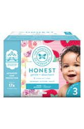 Honest Company Rose Blossom Strawberries Club Diapers   Size 3   68 Pack