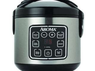 Aroma 8 Cup Programmable Rice  amp  Grain Cooker Steamer