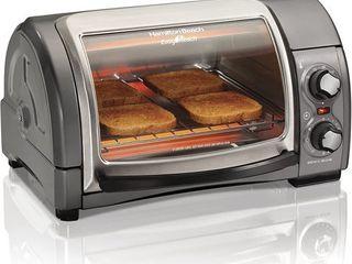 Hamilton Beach Toaster Oven 4 Slice Silver