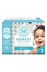 Honest Diapers Bicycles   Bow Ties   Size 3   68 Pack