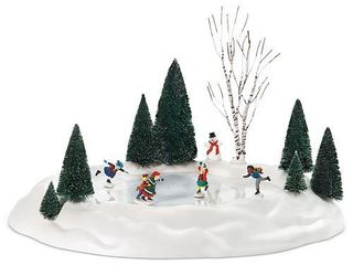 Department 56 Animated Skating Pond Collectible Figurine