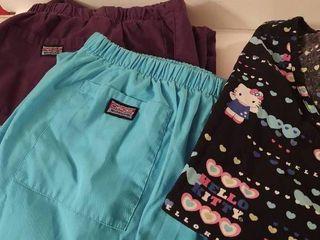 Womens Scrubs Top   Pants Hello Kitty