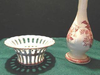 Staffordshire Bud Vase   Dish